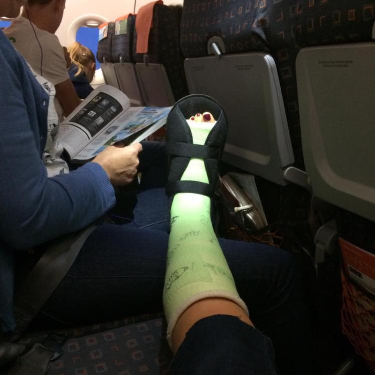 plane foot
